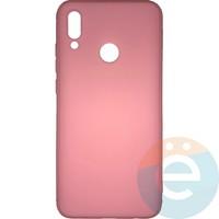 Накладка силиконовая Soft Touch ультра-тонкая на Huawei Honor 10 lite/P Smart 2019 розовая