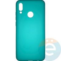Накладка силиконовая Soft Touch ультра-тонкая на Huawei Honor 10 lite/P Smart 2019 бирюзовая