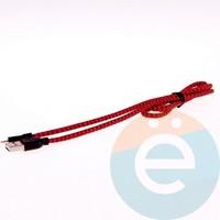 USB кабель Remax Sacitar на Lightning плетёный красный