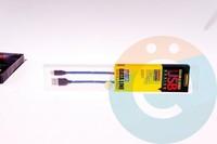 USB кабель Remax Sacitar на Lightning плетёный синий