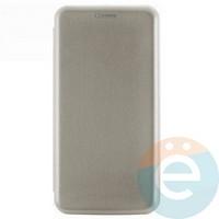 Чехол книжка боковой Fashion Case для Xiaomi Redmi 7 серебристый