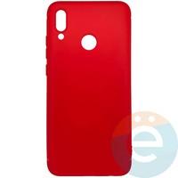 Накладка силиконовая Soft Touch ультра-тонкая на Huawei Honor 10 lite/P Smart 2019 красная