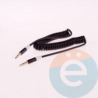 AUX кабель Trim E68 папа-папа 3.5мм пружина металлические цветные