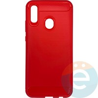 Накладка силиконовая Carbon 360 на Huawei P-Smart 2019/Honor 10 Lite красная
