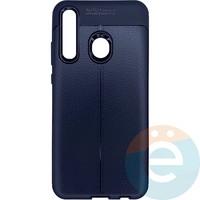 Накладка силиконовая 360 с кожаными вставками на Huawei Honor 10i чёрная