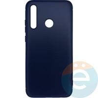 Накладка силиконовая 360 с кожаными вставками на Huawei Honor 8i чёрная