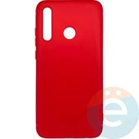 Накладка силиконовая 360 с кожаными вставками на Huawei Honor 8i красная