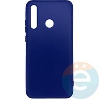 Накладка силиконовая 360 с кожаными вставками на Huawei Honor 8i синяя