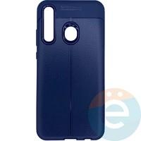 Накладка силиконовая 360 с кожаными вставками на Huawei Honor 10i синяя