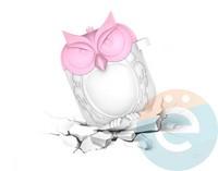 Чехол силиконовый для наушников Apple AirPods Сова розово-белый