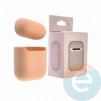 Чехол силиконовый для наушников Apple AirPods 2 ультра-тонкий white