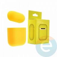 Чехол силиконовый для наушников Apple AirPods 2 ультра-тонкий yellow