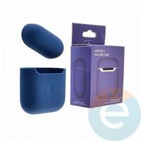Чехол силиконовый для наушников Apple AirPods 2 ультра-тонкий delft blue