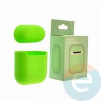 Чехол силиконовый для наушников Apple AirPods 2 ультра-тонкий spearmint
