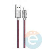 Usb Кабель HOCO U61 на Lightning 2.4A 1,2m красно-синий