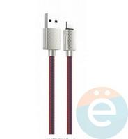 Usb Кабель HOCO U61 на Lightning 2.4A 1,2m красно-синий (с узором)