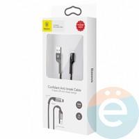 USB кабель Baseus CATSU-S1 с Lightning на Type-C 1m черный