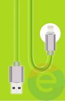USB кабель Konfulon S40 на Lightning салатовый