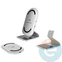 Подставка для смартфона Konfulon Q03 с функцией беспроводной зарядки белая