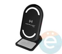 Подставка для смартфона Konfulon Q03 с функцией беспроводной зарядки чёрная