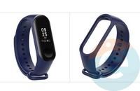 Силиконовый ремешок для Xiaomi Mi band 3/4 синий (3)