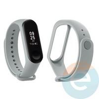 Силиконовый ремешок для Xiaomi Mi band 3/4 серый (4)