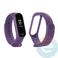 Силиконовый ремешок для Xiaomi Mi band 3/4 фиолетовый (11)