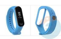 Силиконовый ремешок для Xiaomi Mi band 3/4 голубой (12)