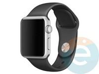 Силиконовый ремешок для Apple Watch 42/44 mm (M) Black 1
