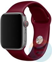 Силиконовый ремешок для Apple Watch 42/44 mm (M) Wine Red 27