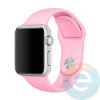 Силиконовый ремешок для Apple Watch 38/40 mm (M) Light Pink 17