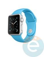 Силиконовый ремешок для Apple Watch 38/40 mm (M) Blue 3