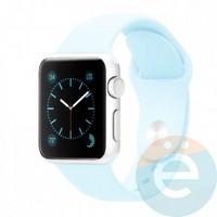 Силиконовый ремешок для Apple Watch 42/44 mm (M) Sky Blue 35