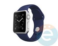 Силиконовый ремешок для Apple Watch 42/44 mm (M) Midnight Blue 10