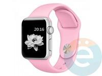 Силиконовый ремешок для Apple Watch 42/44 mm (M) Light Pink 17