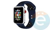 Силиконовый ремешок Nike для Apple Watch 38/40 mm сине-чёрный 16