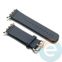 Кожаный ремешок для Apple Watch 42/44 mm синий