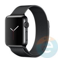 Металлический ремешок Milanese Band для Apple Watch 42/44 mm чёрный