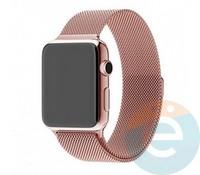 Металлический ремешок Milanese Band для Apple Watch 38/40 mm розовый