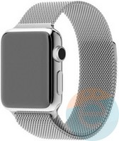Металлический ремешок Milanese Band для Apple Watch 42/44  mm серебристый