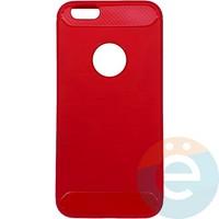 Накладка силиконовая Carbon 360 на Apple IPhone 6/6s красная