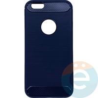 Накладка силиконовая Carbon 360 на Apple IPhone 6/6s синяя
