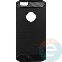 Накладка силиконовая Carbon 360 на Apple IPhone 6/6s чёрная