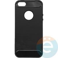 Накладка силиконовая Carbon 360 на Apple IPhone 5/5s/SE серая