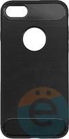 Накладка силиконовая Carbon 360 на Apple IPhone 7/8 серая