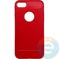 Накладка силиконовая Carbon 360 на Apple IPhone 7/8 красная