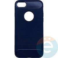 Накладка силиконовая Carbon 360 на Apple IPhone 7/8 синяя