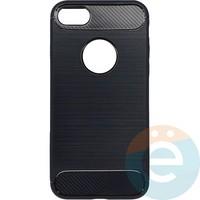 Накладка силиконовая Carbon 360 на Apple IPhone 7/8 чёрная