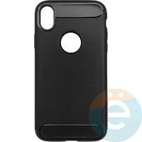 Накладка силиконовая Carbon 360 на Apple IPhone Xr чёрная
