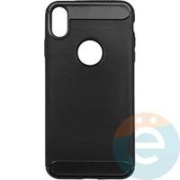 Накладка силиконовая Carbon 360 на Apple IPhone Xs Max чёрная